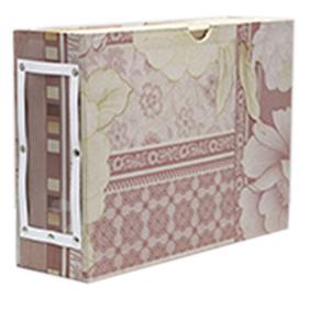 Hộp đựng tài liệu - hộp mộc với giấy bồi hoa
